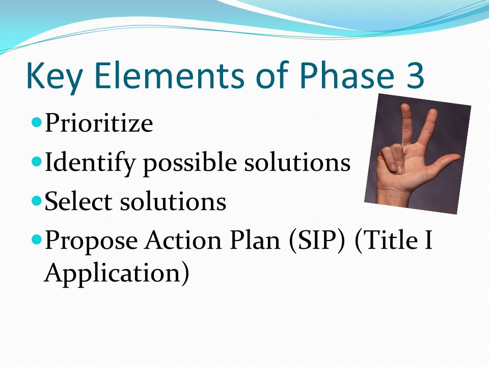 Key Elements of Phase 3 Prioritize Identify possible solutions