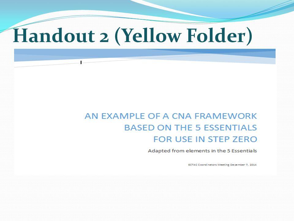 Handout 2 (Yellow Folder)