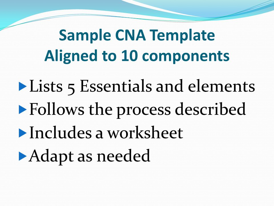 Sample CNA Template Aligned to 10 components