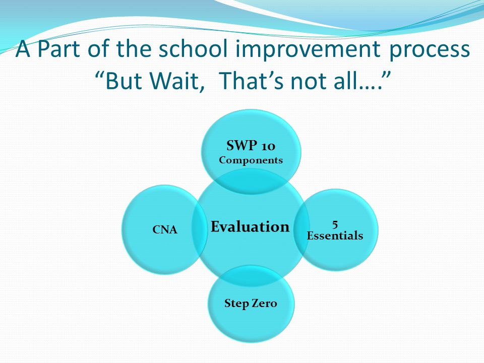 A Part of the school improvement process But Wait, That's not all….