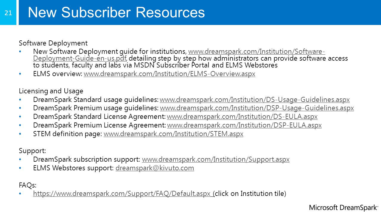 New Subscriber Resources