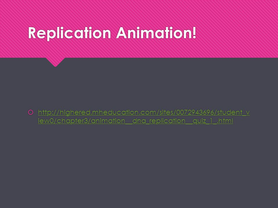 Replication Animation!