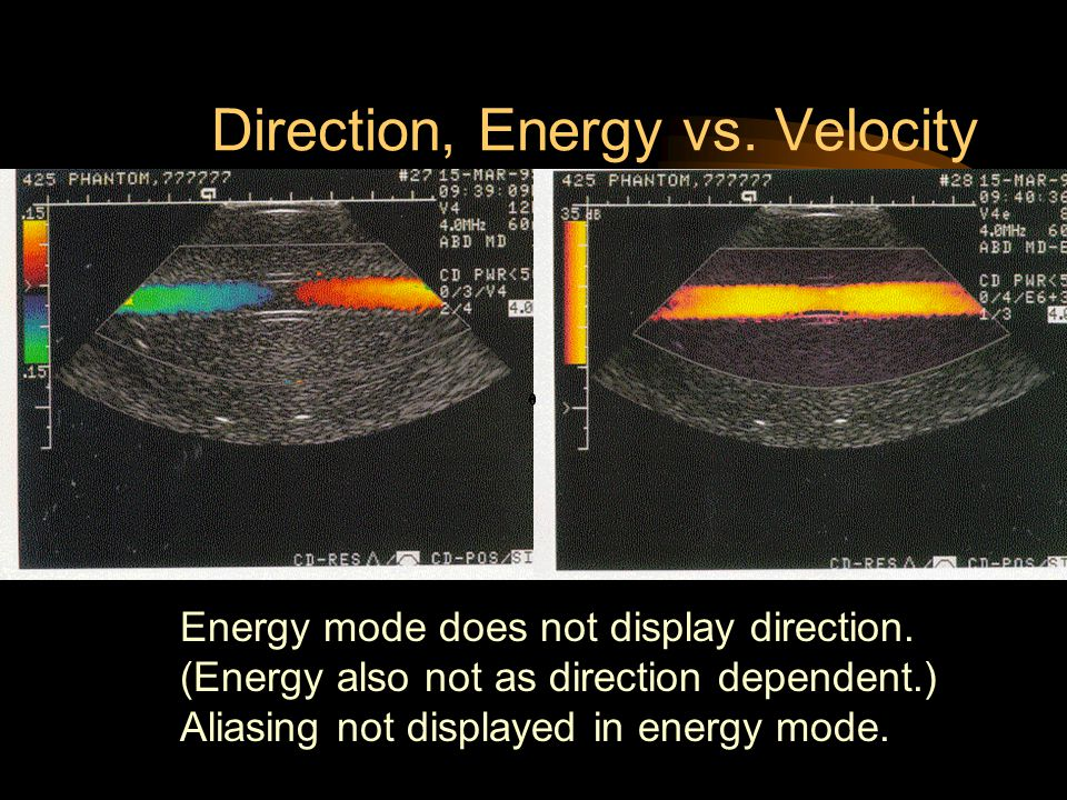 Direction, Energy vs. Velocity