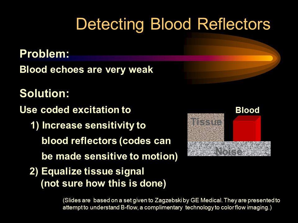 Detecting Blood Reflectors