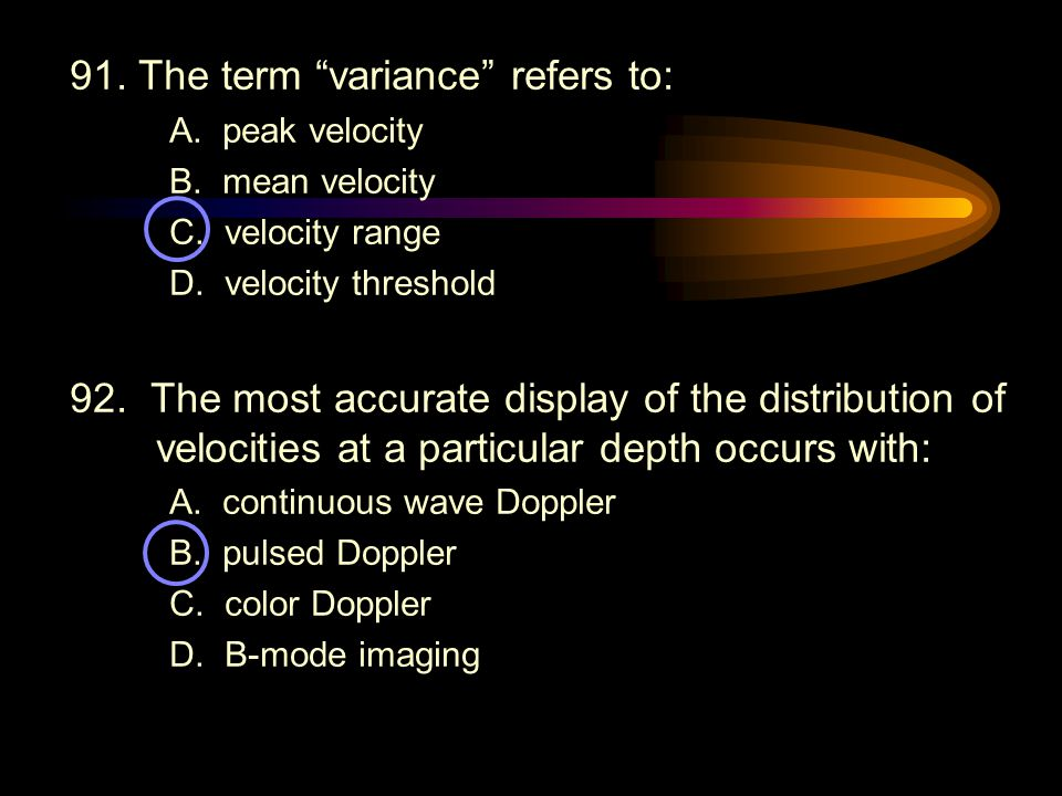 91. The term variance refers to: