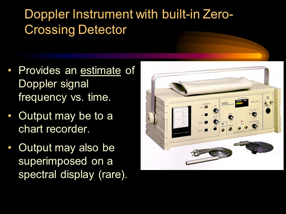 Doppler Instrument with built-in Zero-Crossing Detector