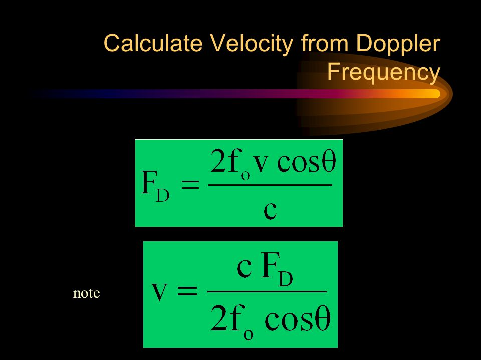 Calculate Velocity from Doppler Frequency
