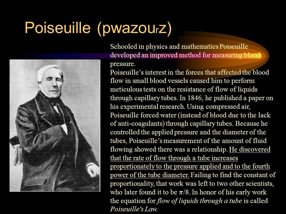 Poiseuille (pwazourz)