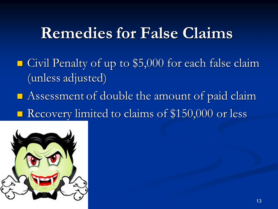 Remedies for False Claims