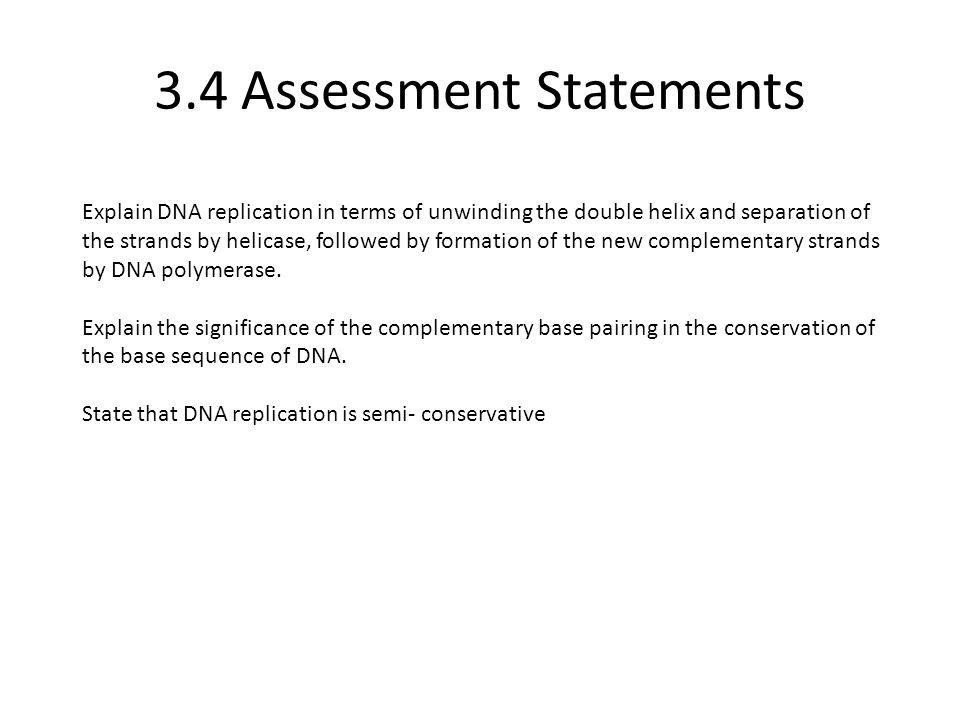 3.4 Assessment Statements