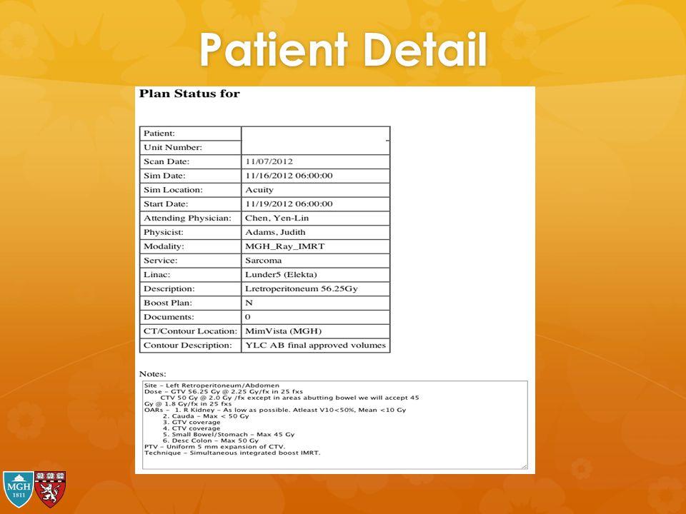 Patient Detail