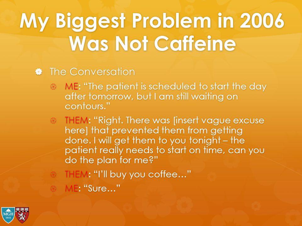 My Biggest Problem in 2006 Was Not Caffeine