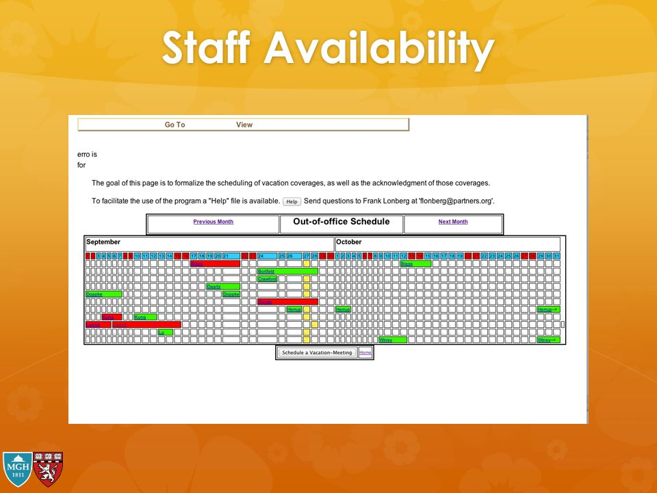 Staff Availability