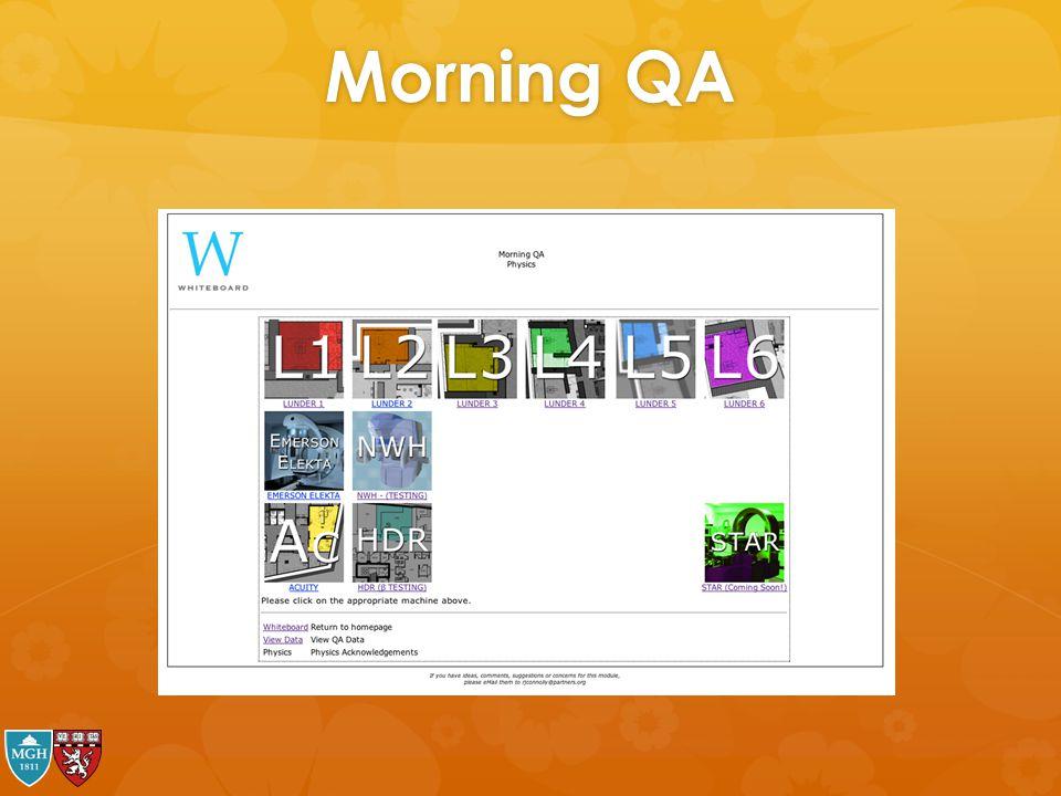 Morning QA