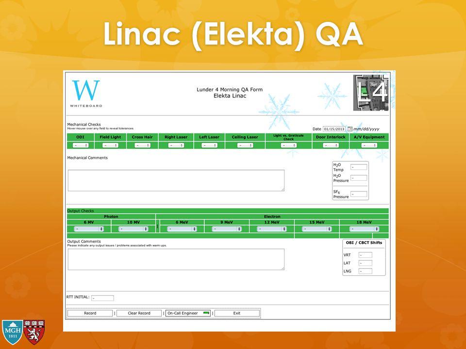 Linac (Elekta) QA