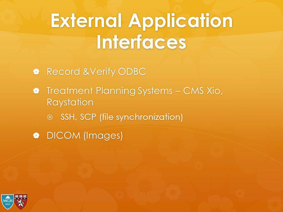 External Application Interfaces