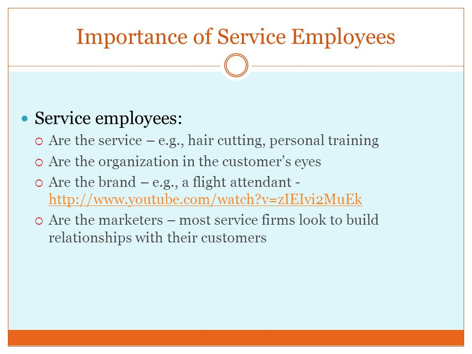 Importance of Service Employees
