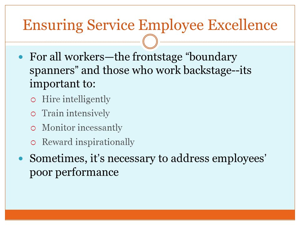 Ensuring Service Employee Excellence