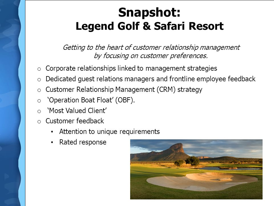 Snapshot: Legend Golf & Safari Resort