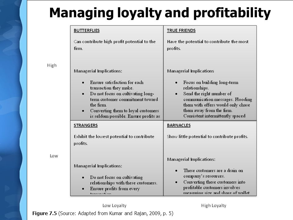 Managing loyalty and profitability