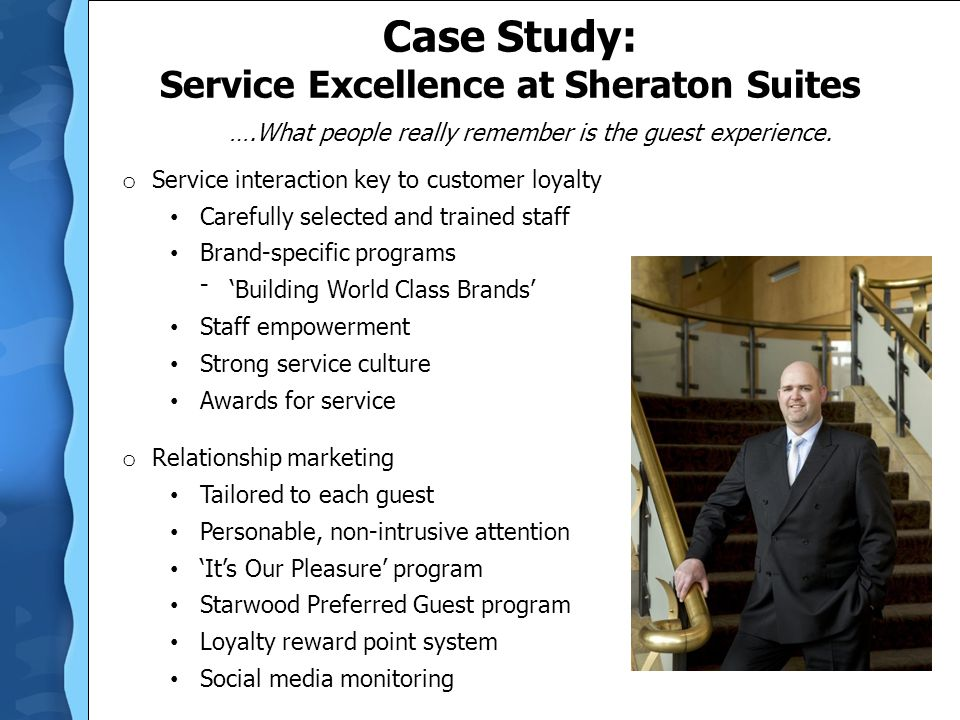 Case Study: Service Excellence at Sheraton Suites