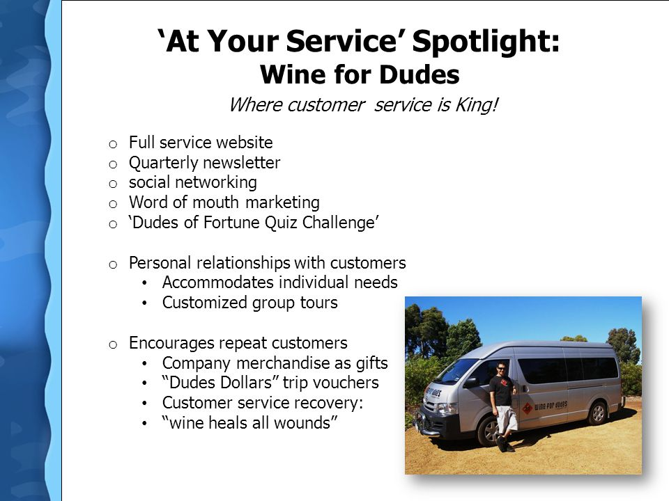 'At Your Service' Spotlight: Wine for Dudes
