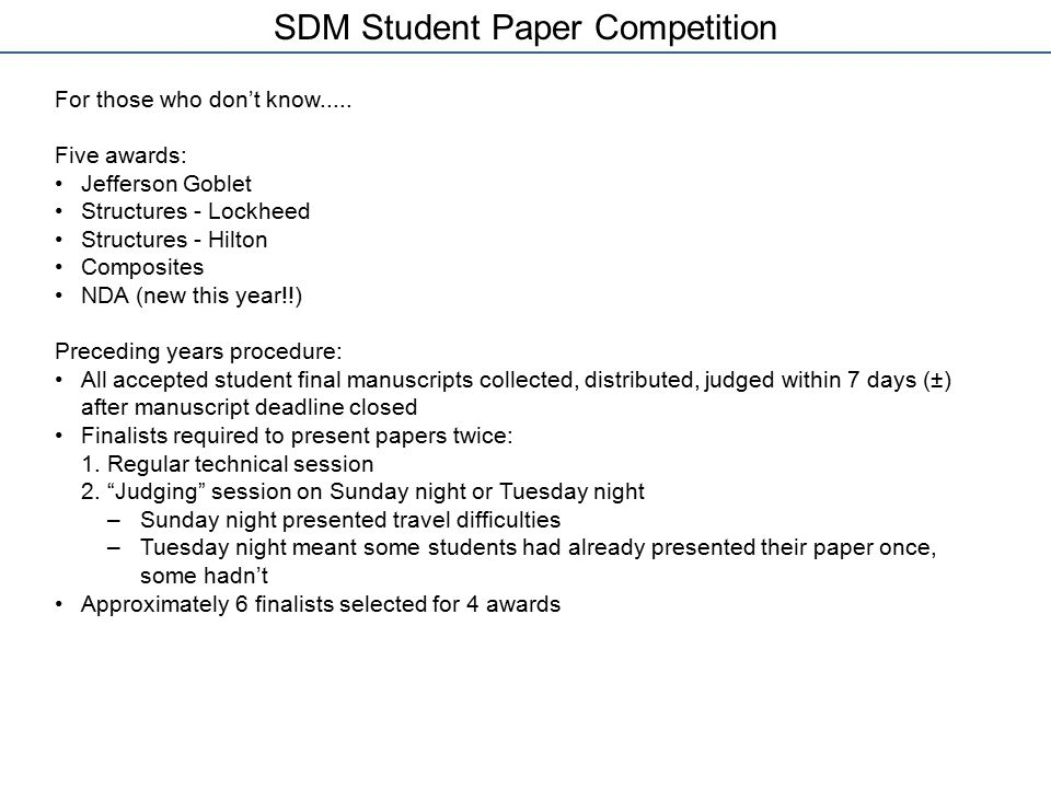SDM Student Paper Competition