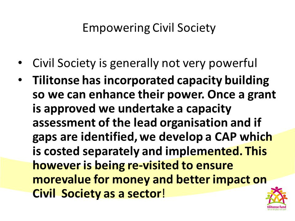 Empowering Civil Society
