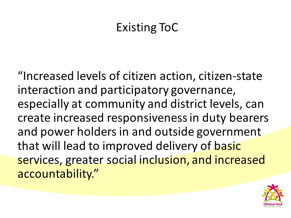 Existing ToC