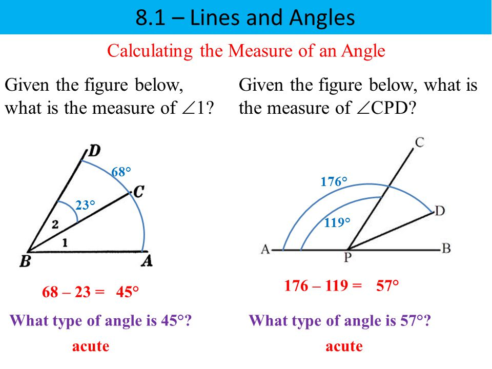 Calculating the Measure of an Angle