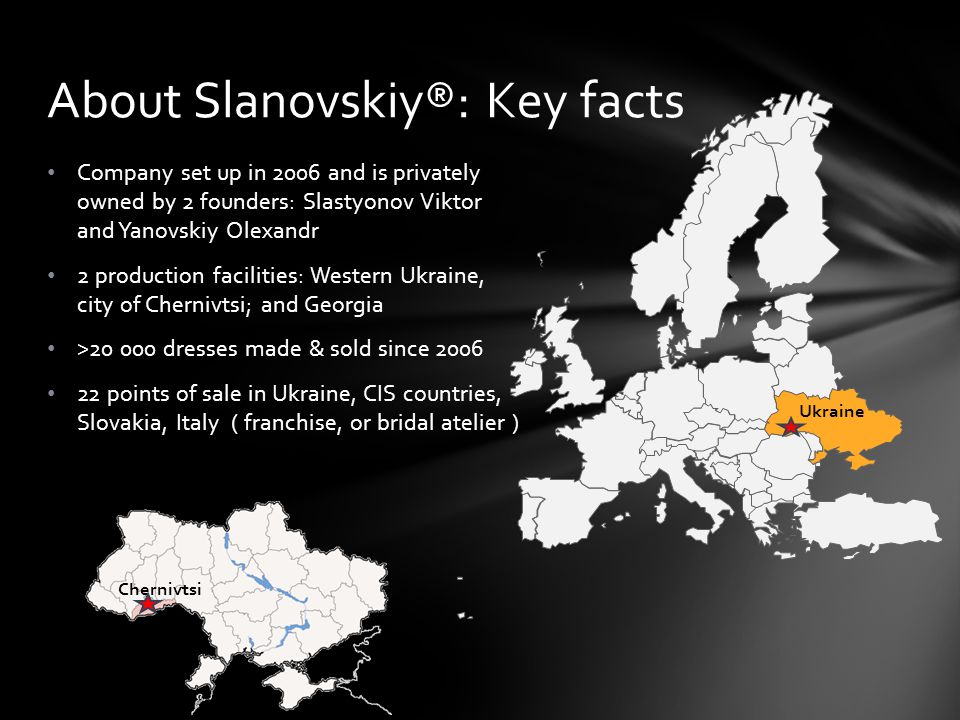 About Slanovskiy®: Key facts