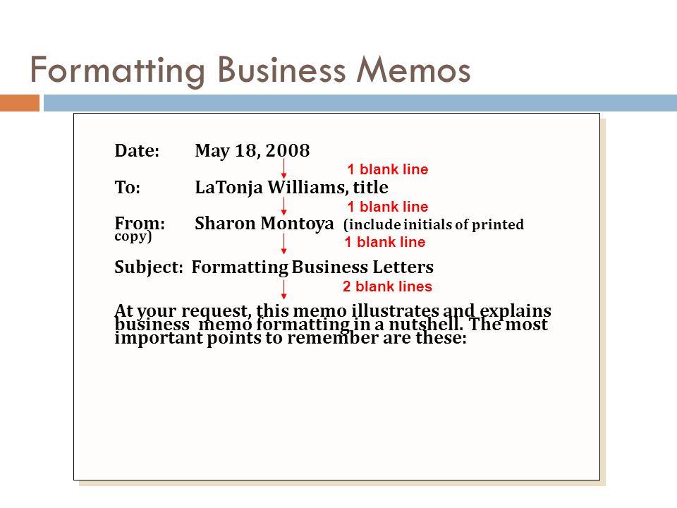 Formatting Business Memos
