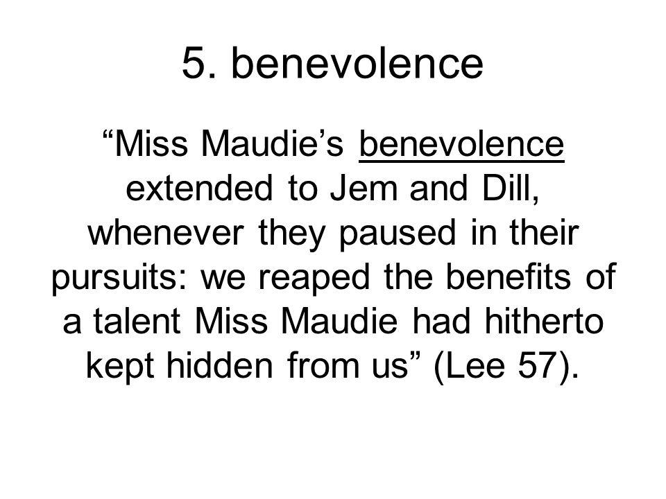 5. benevolence