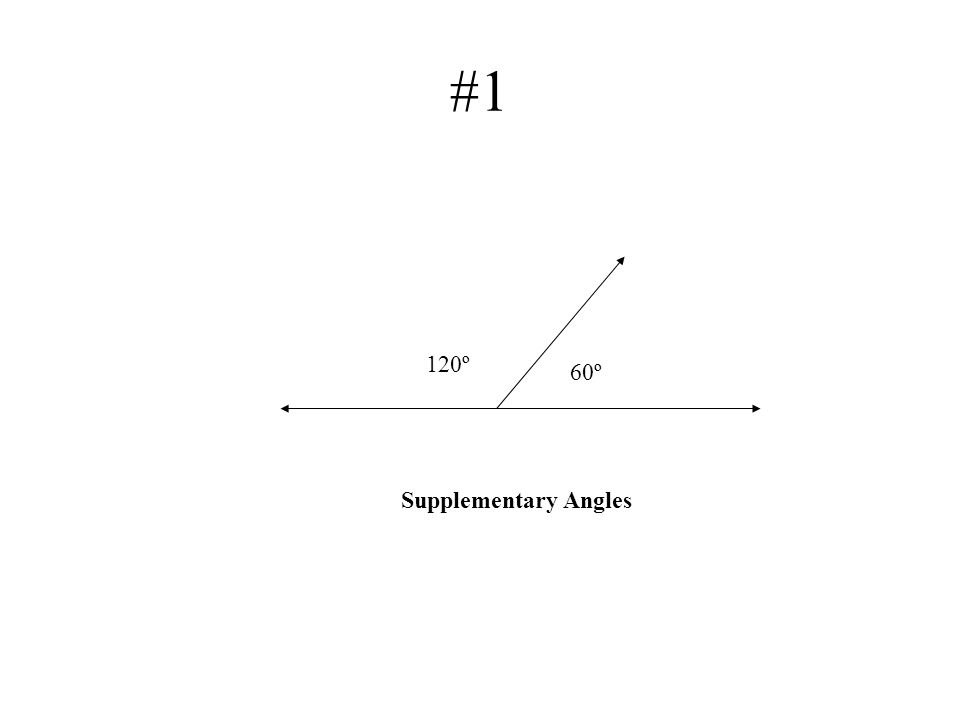 #1 120º 60º Supplementary Angles