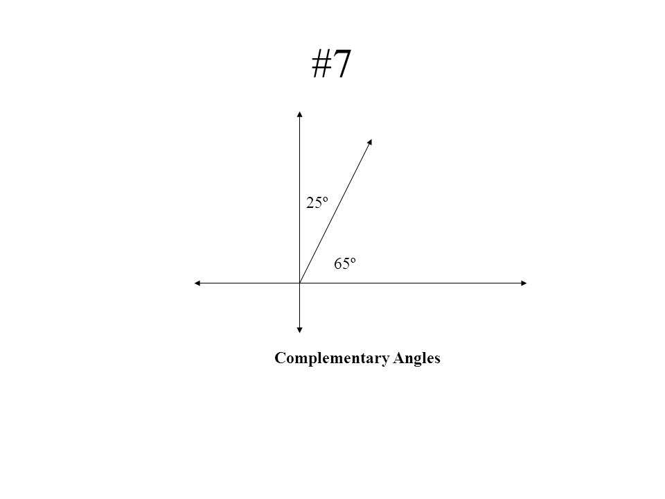 #7 25º 65º Complementary Angles