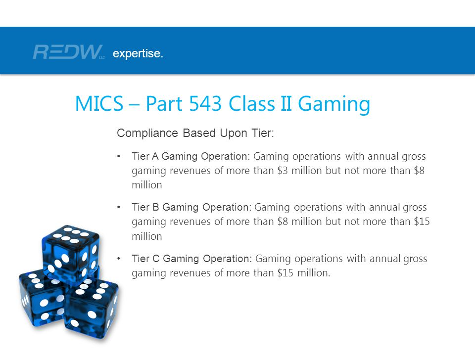 MICS – Part 543 Class II Gaming