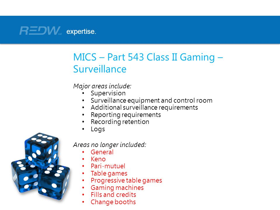 MICS – Part 543 Class II Gaming – Surveillance
