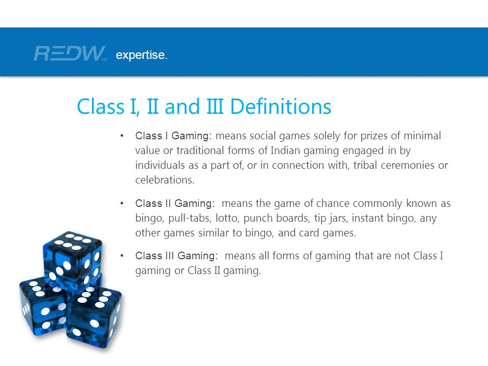 Class I, II and III Definitions