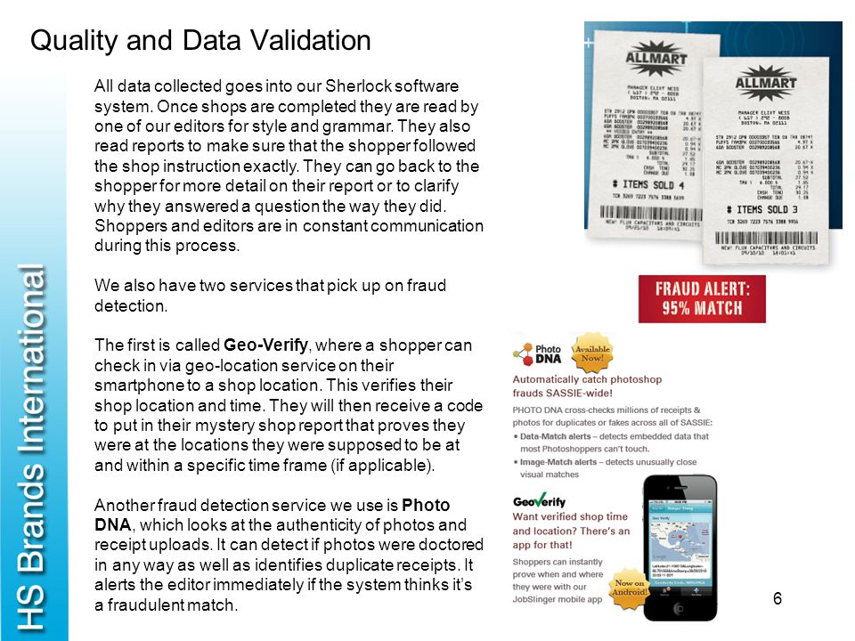 Quality and Data Validation