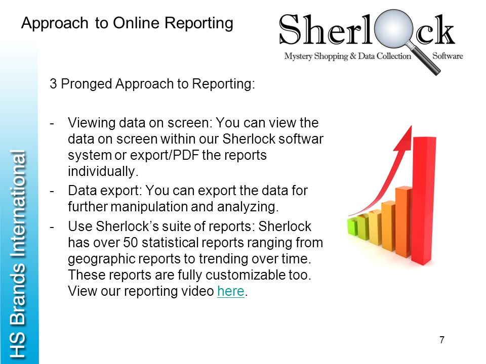 Approach to Online Reporting