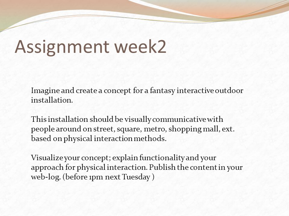 Assignment week2