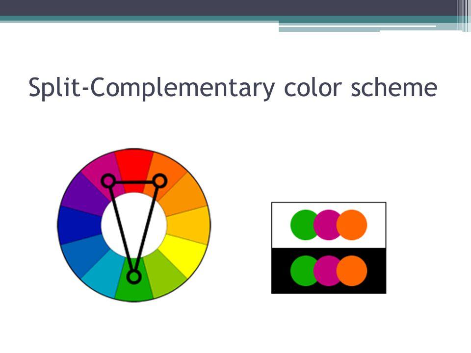 Split-Complementary color scheme