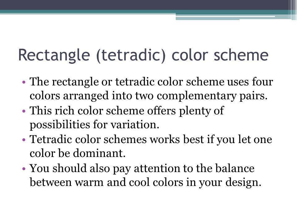 Rectangle (tetradic) color scheme