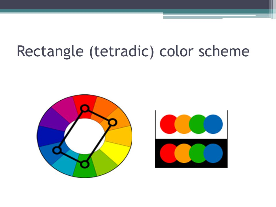 26 Rectangle Tetradic Color Scheme