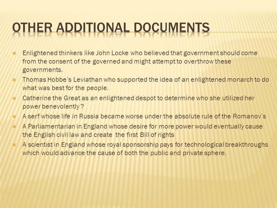 Other Additional Documents