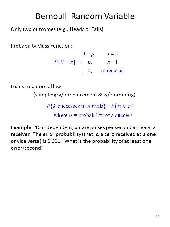 Bernoulli Random Variable