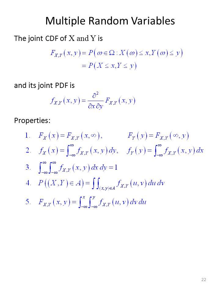 Multiple Random Variables