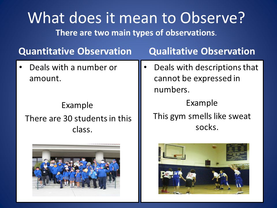 What does it mean to Observe