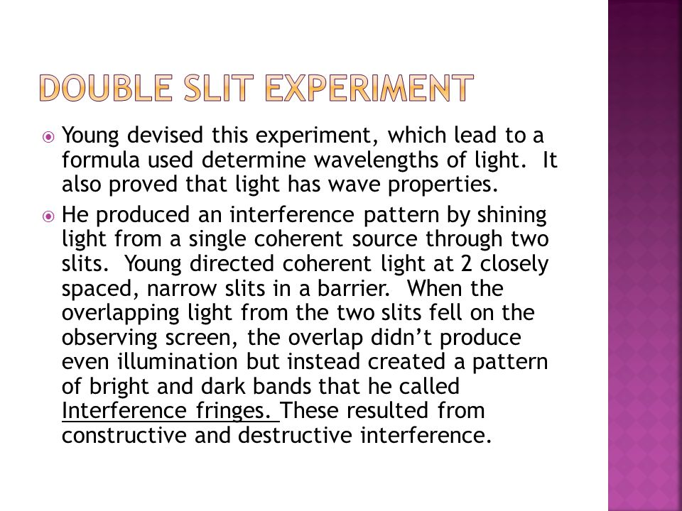 Double Slit Experiment
