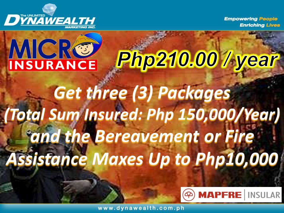 Php210.00 / year Get three (3) Packages